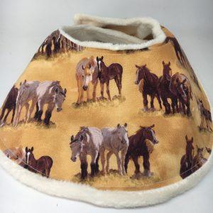 Baby Bib Horse brown