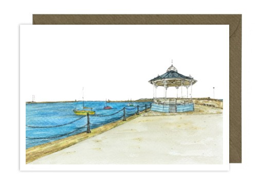 Dun Laoghaire Bandstand Greeting Card