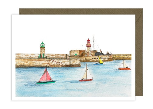 Dun Laoghaire Harbour Greeting Card