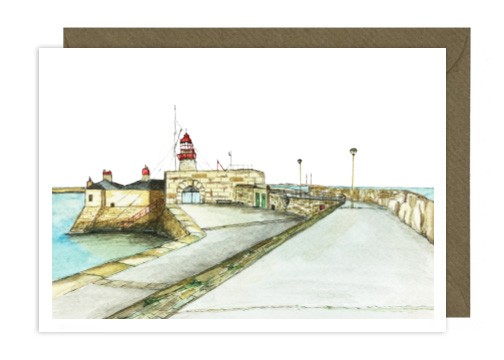 Dun Laoghaire Pier Greeting Card