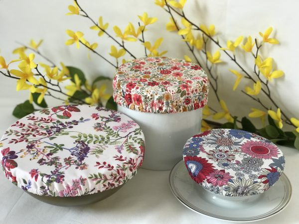 Mila's Reusable Bowl Covers set of 3 -All florals