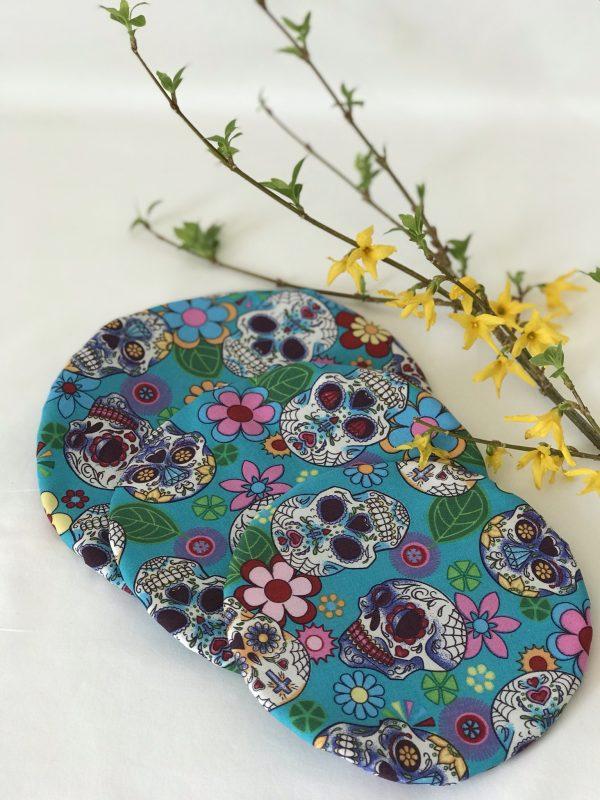 Mila's Reusable Bowl Covers set of 3 -Sugar skulls turquoise - F0A7CF00 E036 47C4 9B53 FA95D0A12023