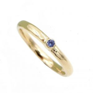 9ct Yellow gold and sapphire stacking ring