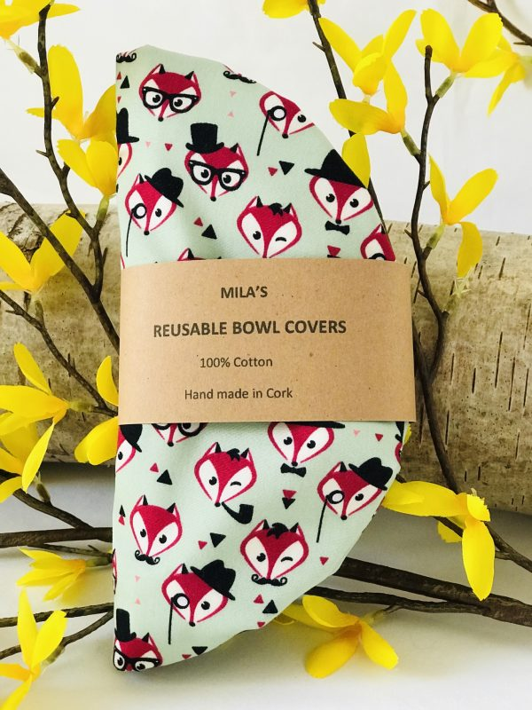 Mila's Reusable Bowl Covers set of 3 -Foxes - FF70780B CCF9 43F4 B78A 8687AF724B4F