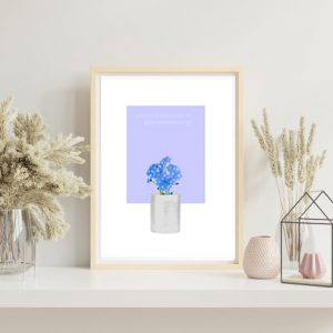 Forget-Me-Not (Periwinkle) Art Print