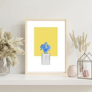 Forget-Me-Not (Yellow) Art Print