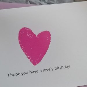 I hope you have a lovely birthday card
