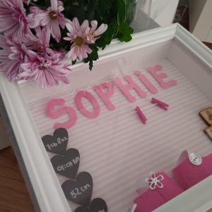 Personalised New Baby Girl Photo Frame