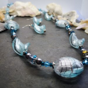 Bold & Beautiful Collection - Baby Blue Necklace and Earrings