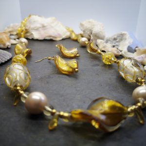 Bold & Beautiful Collection - Golden Necklace and Earrings