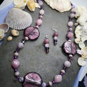 Bold & Beautiful Collection - Purple Necklace and Earrings