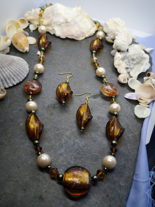 Bold & Beautiful Collection - Bronze Necklace and Earrings