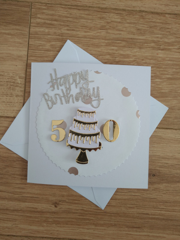 Selection of Milestone Birthday Cards Gold/Silver - IMG 20210425 172451308 scaled