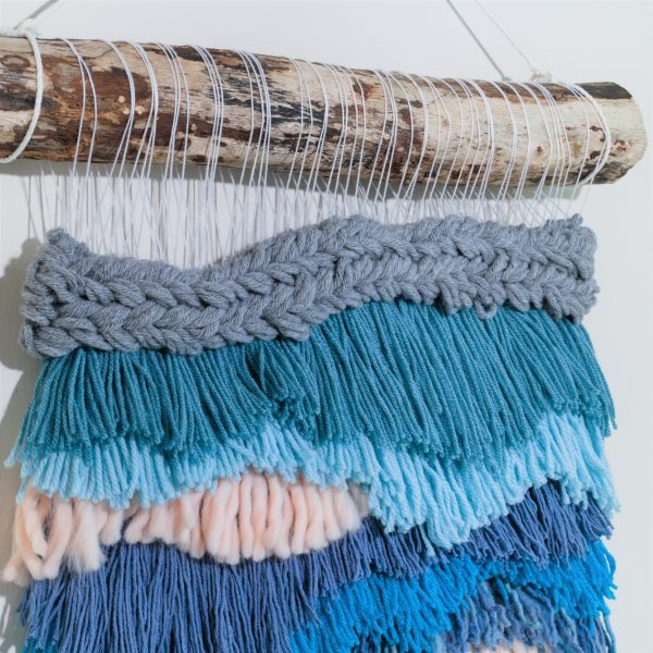 Handwoven Seascape Wall Hanging - IMG 4196