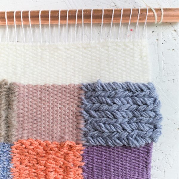 Handwoven Contemporary Woven Wall Hanging - IMG 4222