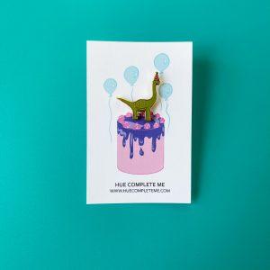 Dinosaur Birthday Enamel Pin