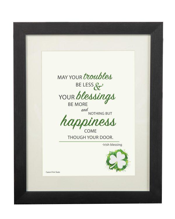 An Irish Blessing Wall Print - Irish Blessing Black frame