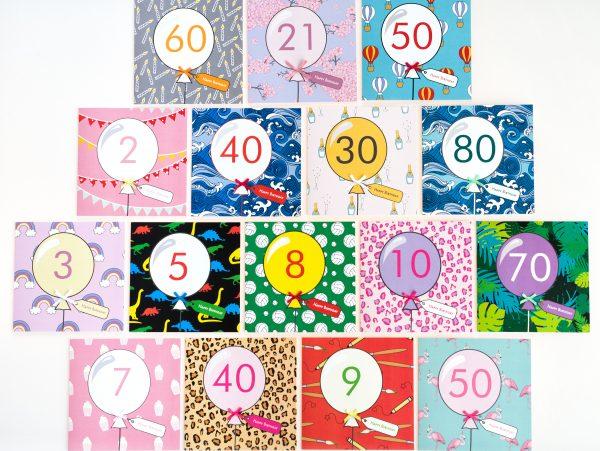 60th Candle Birthday Card - KPW 6904