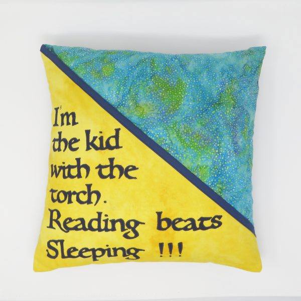 Children's Book Lover Cushion with Pouch