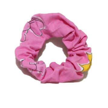 Girls Cotton Scrunchie (Four) - Pink - Pink scrunchies 2