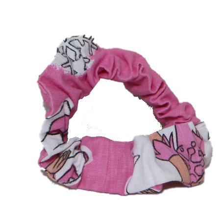 Girls Cotton Scrunchie (Four) - Pink - Pink scrunchies 4