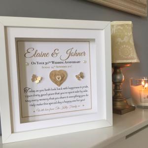 Pearl Wedding Anniversary Personalised Frame