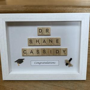 Graduation Scrabble Art Frame