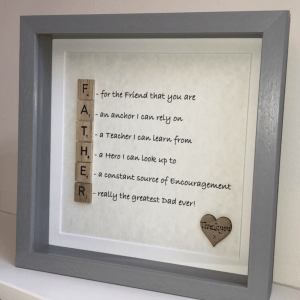 Father Acrostic Frame