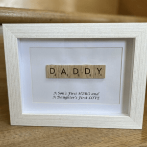 Dad/Daddy/Father/Grandad/Uncle Scrabble Art Frame