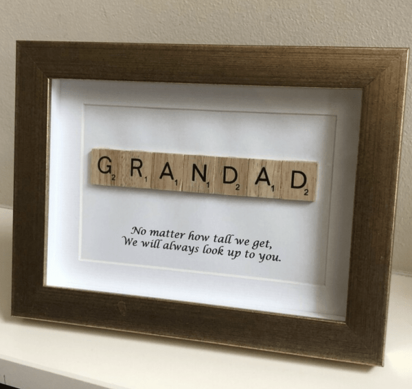 Dad/Daddy/Father/Grandad/Uncle Scrabble Art Frame - Screenshot 2021 04 22 at 23.06.05