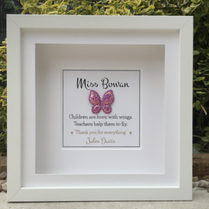 Teacher Butterfly Personalised Frame