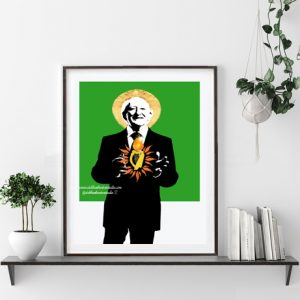 The Sacred Harp of Michael D Wall Print