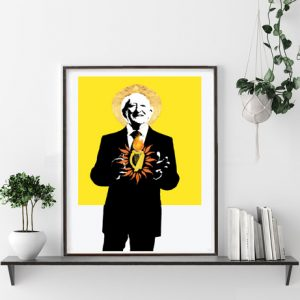 The Sacred Harp of Michael D (yellow) Art Print