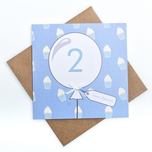 2nd Birthday Card Cupcake