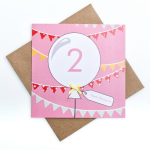 2nd Birthday Card Bunting