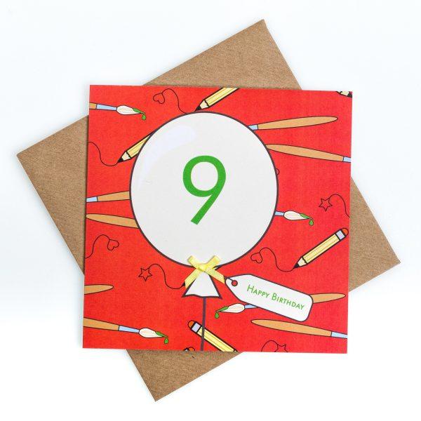 9th Birthday Card Art
