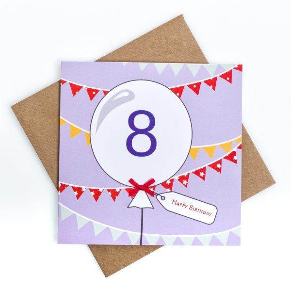 8th Birthday Card Bunting