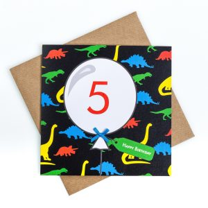 5th Birthday Card Dinosaur