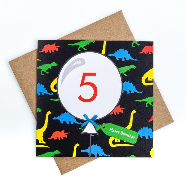 5th Birthday Card Dinosaur