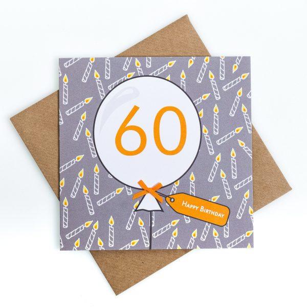 60th Candle Birthday Card