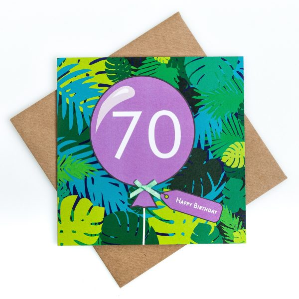 70th Jungle Birthday Card