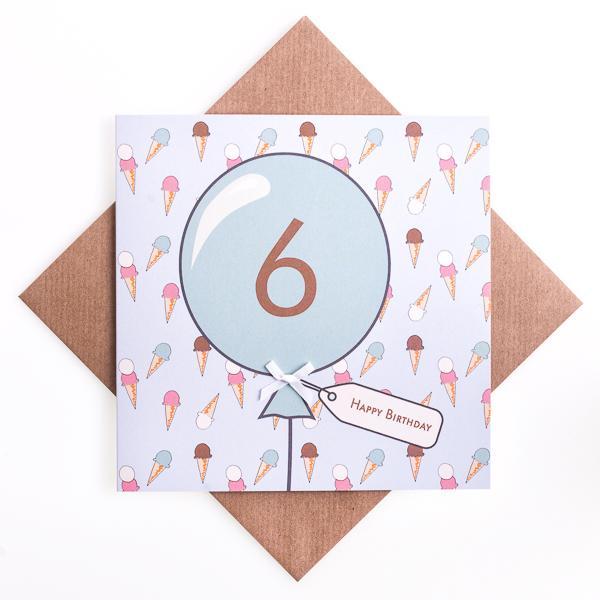 6th Birthday Card Icecream