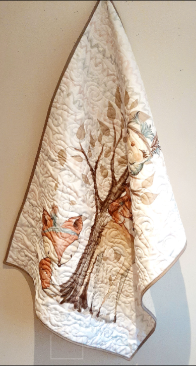 Cute Woodland Creatures baby quilt - woodland1