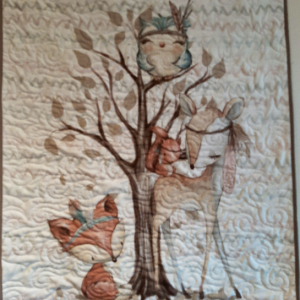 Cute Woodland Creatures baby quilt