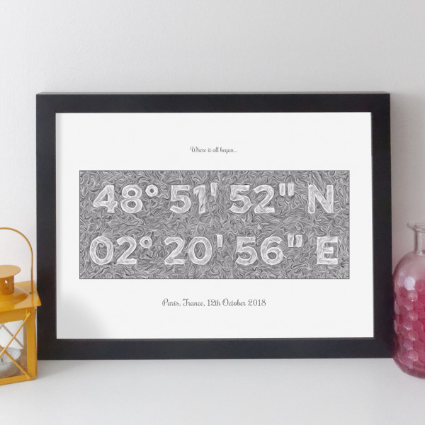 Personalised Coordinates Print - contemporary style