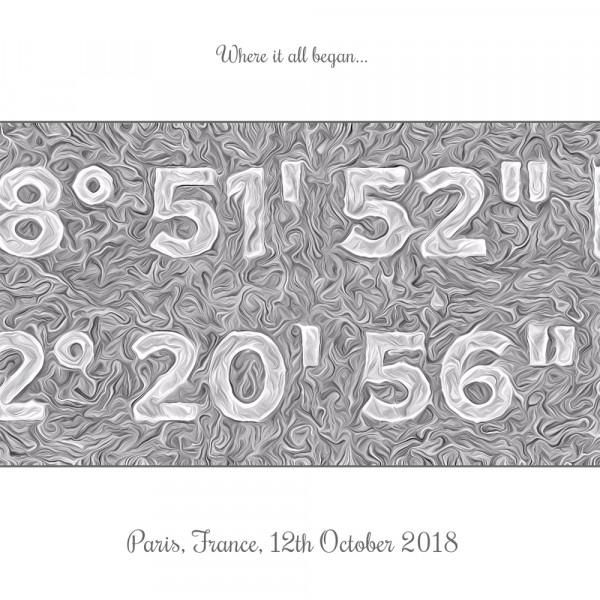 elevencorners personalised coordinates print