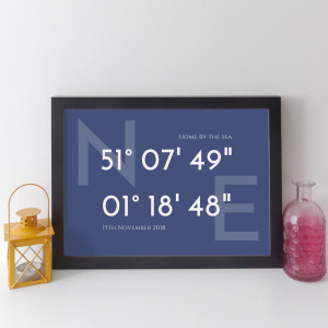 Personalised Coordinates Print - Classic style