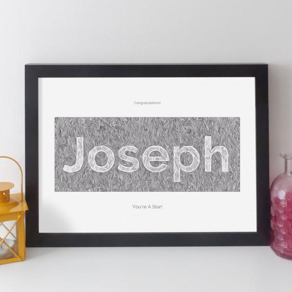 elevencorners personalised family name print
