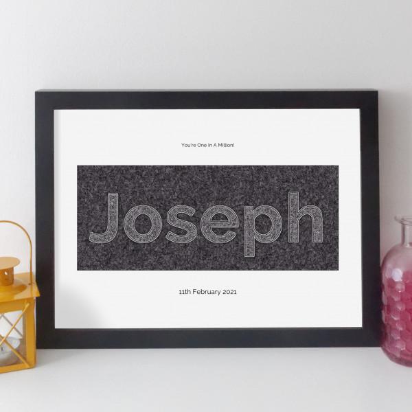 Personalised Family Name Print