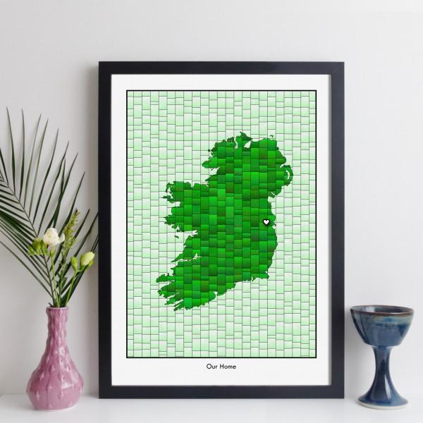 Personalised Ireland Map Print
